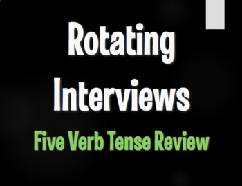 Spanish Five Verb Tense Review Rotating Interviews