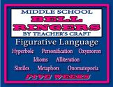 Five Week Middle School ELA Bell Ringers Packet - Figurati