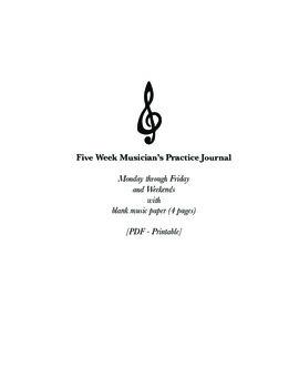 Five-Week Musician's Practice Journal