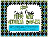 Five Zero Prep Triple Digit Addition Games