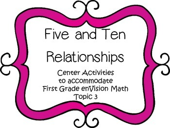Five and Ten Relationships - First Grade enVision Math - m