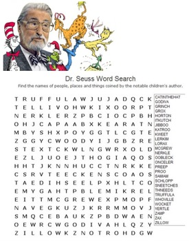 Five Dr. Seuss Word Searches