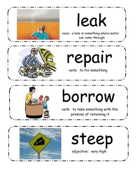 Fix-It Duck Vocabulary Cards