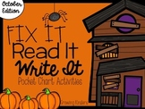 Fix It! Read It! Write It! October Sentence Scrambles