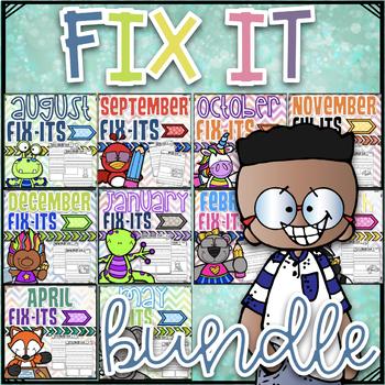 Fix-It Sentences For the Year- Growing Bundle