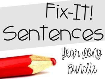 Fix-It! Writing Sentences BUNDLE