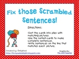 Fix Those Scrambled Sentences!