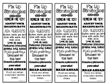 Fix Up Strategy Bookmarks for Reading Comprehension