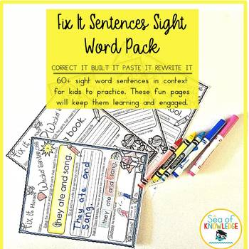 Sentence Stucture and Writing Fry Sight Words