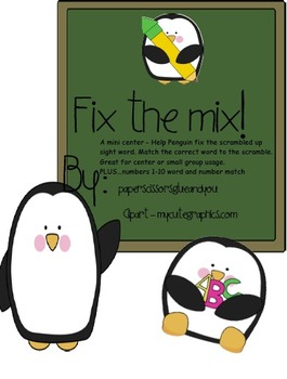 Fix the Mix -scrambled sight word mini center or small group game