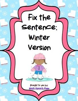 Fix the Sentence: Winter