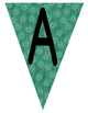 Flag Banners - Peacock Print with black Font