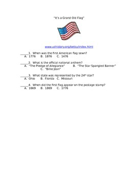 Flag and Betsy Ross Web Guide Page