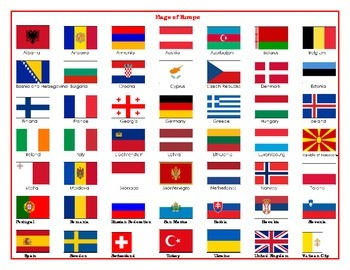 Flags of Europe Matching