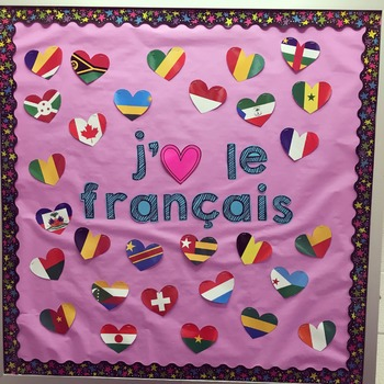 Flags of French-Speaking Countries Classroom Decor