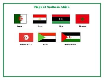 Flags of Northern Africa Matching