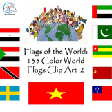 Flags of the World: 135 World Flags Clip Art 2