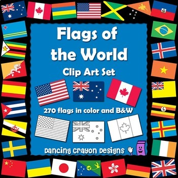 Flags of the World: 270 World Flags - Clipart Set by ...
