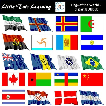 Flags of the World: 366 World Flags Clip Art 3