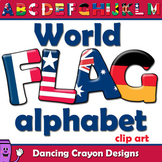 Flags of the World: Alphabet Letters Clipart
