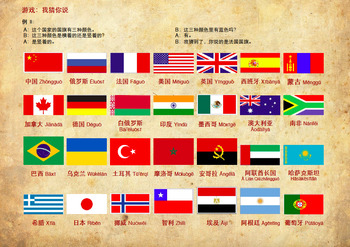 Flags of the countries - Learn colors and China's neighbours