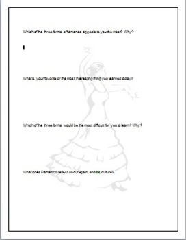 Flamenco Journal Prompts