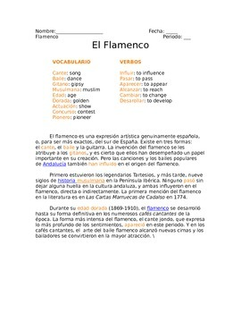 Flamenco reading and questions