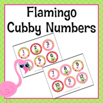 Flamingo Cubby Number Labels 1-30