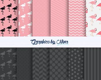 Flamingo Digital Papers