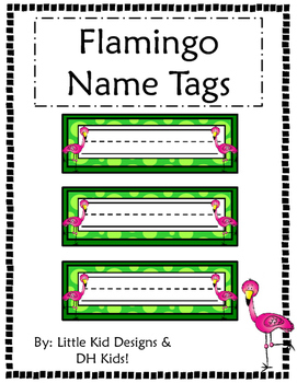 Flamingo Name Tags - Printable Name Tags