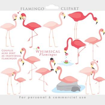 Flamingo clipart - flamingos clip art flamingoes birds bab