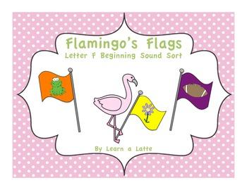 Flamingo's Flags - Letter F Beginning Sound Sort