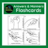 Flash Card, Answers & Manners, ASL, how to learn Sign Lang