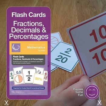 Flash Cards   Fractions, Decimals and Percentages