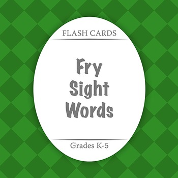 Flash Cards: Fry Sight Words