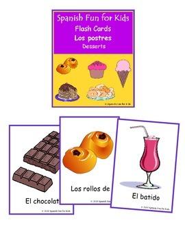 Flash Cards - Los postres (desserts)