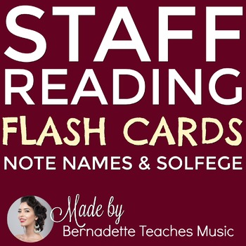 Flash Cards!!! Staff Reading, Note Names & Solfege