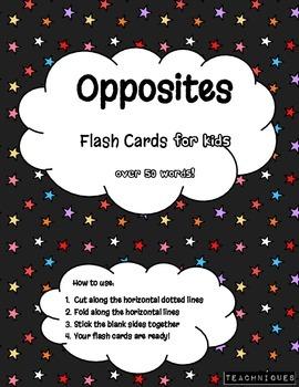 ★Fun Flash Cards- English Opposites for Kids (Simple Anton