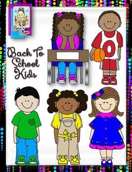 Back-to-School Kids Clip Art
