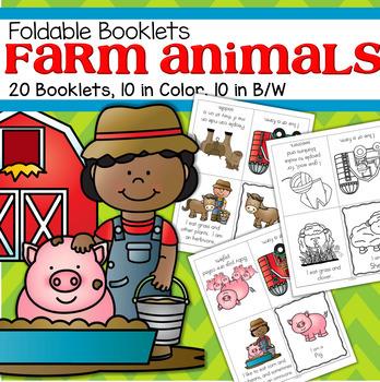 FARM ANIMALS Foldable Booklets for Preschool, Pre-K and Ki