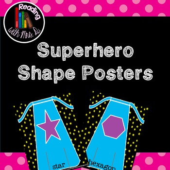 Superhero Shapes Posters Black Background