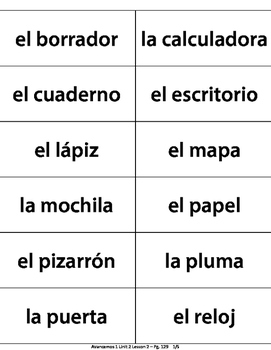 Spanish Flashcards - Avancemos 1 Unit 2 Lesson 2 + estar & ir