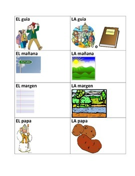 Flashcards-Spanish Words That Change Meaning Depending on
