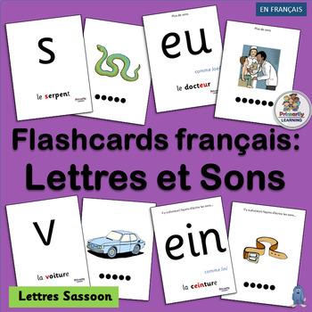 French ~ Flashcards français: Lettres et Sons | Sassoon Font