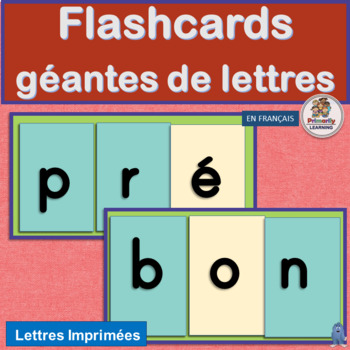 French: Flashcards géantes de lettres works with programs