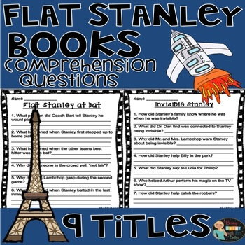Flat Stanley Books Comprehension Questions