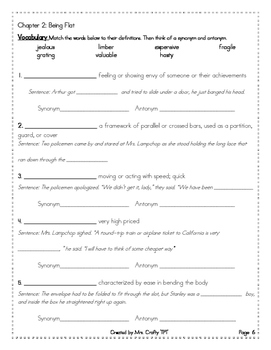 """Flat Stanley Comprehension, Vocabulary, and """"Quotation Mar"""