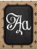 Fleur de Lis Chic Alphabet Posters {Burlap & Black}