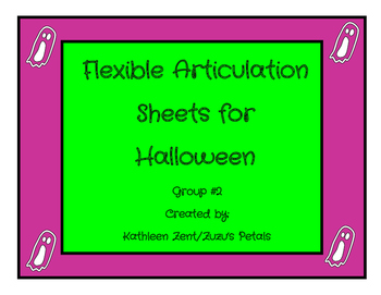 Flexible Articulation Sheets for Halloween set 2