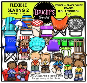 Flexible Seating 2 Clip Art Bundle
